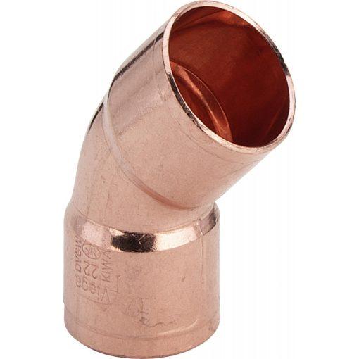 VIEGA forrasztható 45°-os ív 2 tokkal 15 mm (95041)