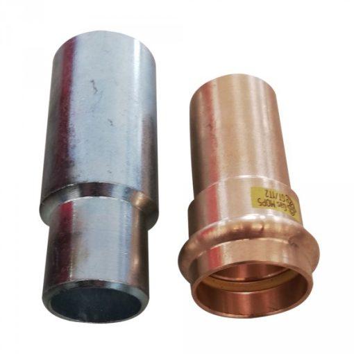 Anyagváltó készlet DN25-D28x1,5 Press (Acél-réz összekötő)