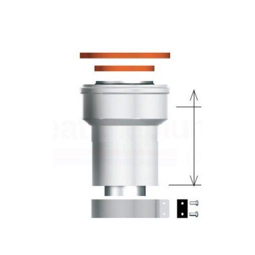 ARISTON függőleges indítóidom, alu/pp, 80/125 mm