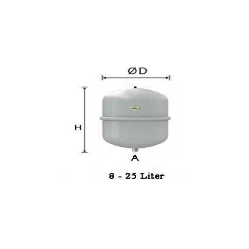 REFLEX N 8 L fűtési tágulási tartály 4 bar
