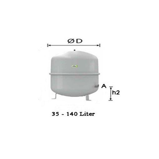 REFLEX N 50 L fűtési tágulási tartály 6 bar