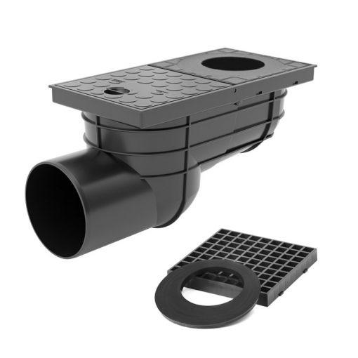 STYRON kültéri víznyelő oldalkifolyású 110 mm