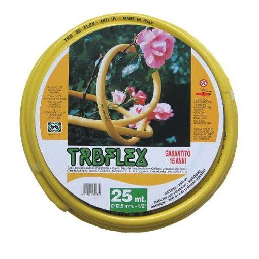 """TRB-FLEX sárga locsoló tömlő  1/2"""" csavarodásmentes (25m/tekercs az egész tekercs, de méterenként rendelhető, vágjuk)"""