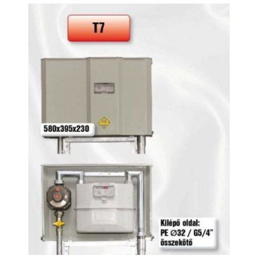 PEROGAZ T7 előkerti szabályozó- és mérőállomás