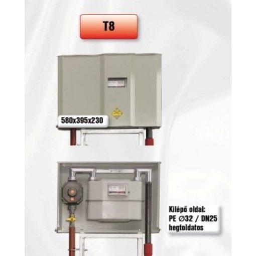 PEROGAZ T8 előkerti szabályozó- és mérőállomás