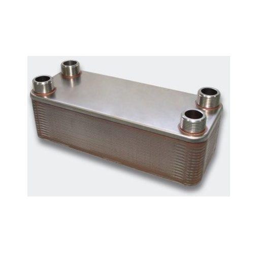 """ZILMET ZB190-40 forrasztott lemezes hőcserélő, 40 lemezes, L=190 mm, 4x3/4"""""""